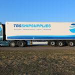 Lamberet oplegger met Scania Trekker
